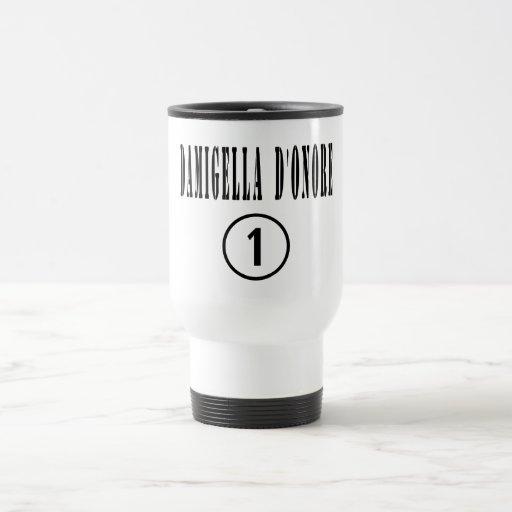 Italienische Trauzeuginnen: Damigella D'Onore Kaffee Tassen