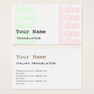 Italienische Übersetzer-oder Visitenkarte