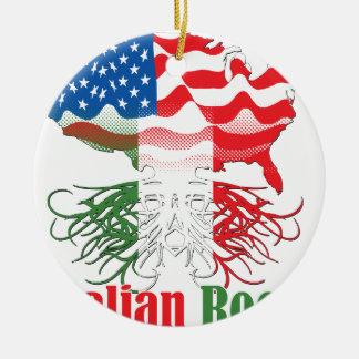 italienische Wurzeln Rundes Keramik Ornament