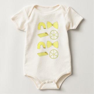 Italienischer Ellbogen-Makkaroni Penne Bowtie Baby Strampler