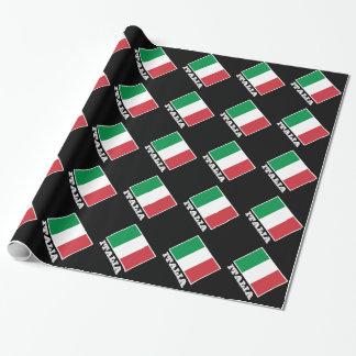 Italienischer Entwurf des Flaggen-Packpapiers | Geschenkpapier