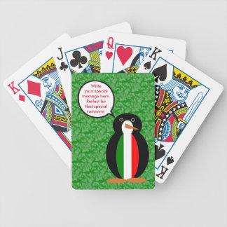 Italienischer Feiertags-Herr Pengiun Bicycle Spielkarten