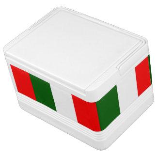 Italienischer Flaggeniglu kann cooler Igloo Kühlbox