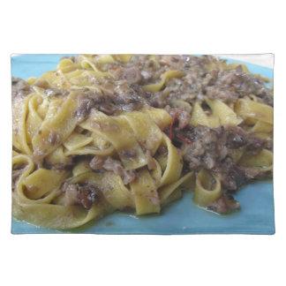 Italienischer frischer Fettuccine oder tagliatelle Tischset