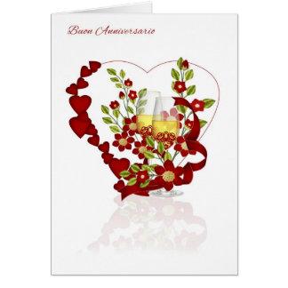 Italienischer Hochzeits-Jahrestag mit Grußkarte