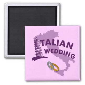 Italienischer Hochzeits-Magnet Quadratischer Magnet