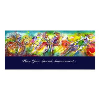 ITALIENISCHER KARNEVAL Kostümball, Tanz und Musik 10,2 X 23,5 Cm Einladungskarte