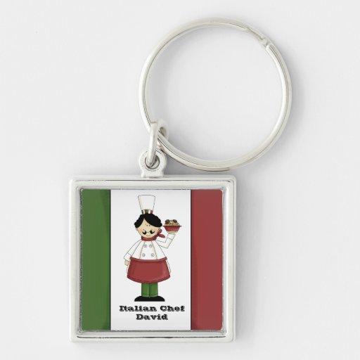 Italienischer Koch #3 Keychain Schlüsselband