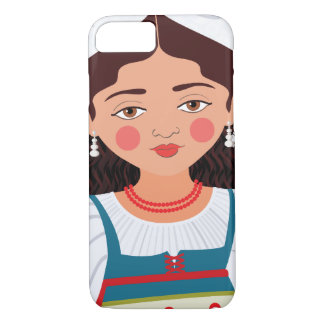 Italienischer Mädchen Matryoshka Fall iPhone 8/7 Hülle