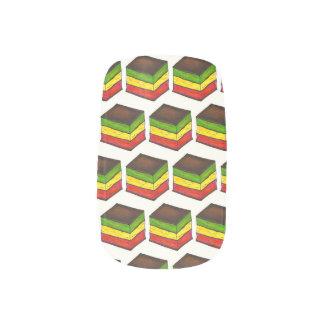 Italienischer Regenbogen sieben Minx Nagelkunst