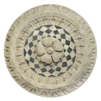 Italienischer Renaissance-Marmor-gemeißelte Flache Teller