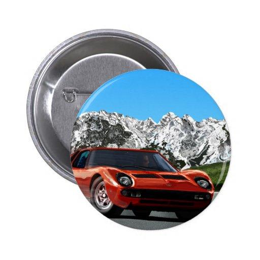 Italienischer Sportautogebirgs-Antrieb Button