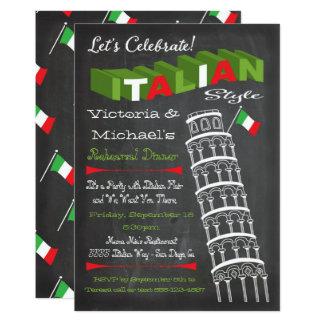 Italienischer Turm des 12,7 X 17,8 Cm Einladungskarte