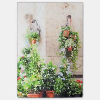 Italienischer Watercolor-Blumen-Markt Post-it Klebezettel