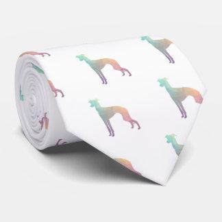 Italienischer Windhund Geo Muster-Silhouette - Krawatte