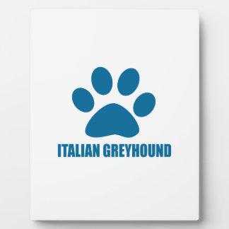 ITALIENISCHER WINDHUND-HUNDEentwürfe Fotoplatte