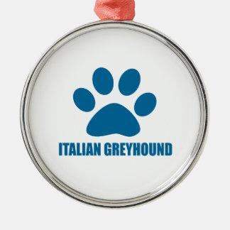 ITALIENISCHER WINDHUND-HUNDEentwürfe Silbernes Ornament