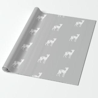 Italienischer Windhund-Hunderettungs-Packpapier Geschenkpapier