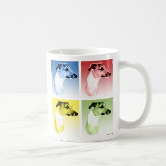 Italienischer Windhund Popart Kaffeetasse