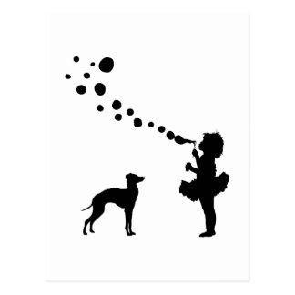 Italienischer Windhund Postkarte