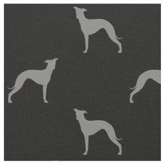 Italienischer Windhund-Silhouette-Muster Stoff