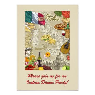 Italienisches Abendessen-Party 12,7 X 17,8 Cm Einladungskarte