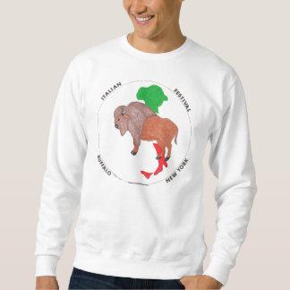 Italienisches Festival-stehendes Büffel-Sweatshirt Sweatshirt