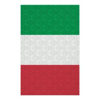 Italienisches Flaggen-Damast-Muster Briefpapier