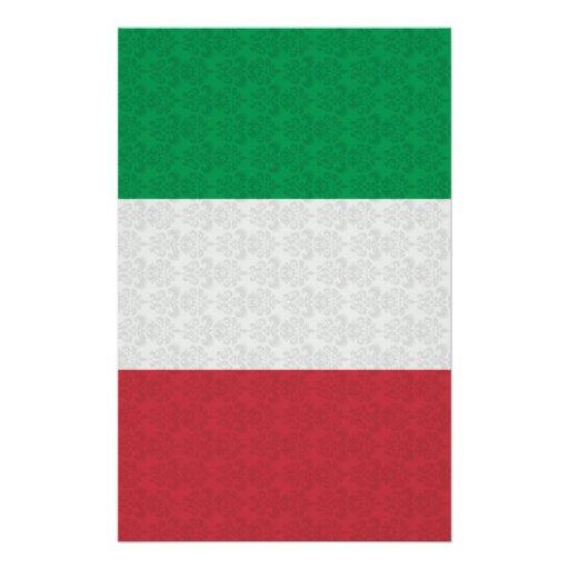 Italienisches Flaggen-Damast-Muster Individuelle Druckpapiere