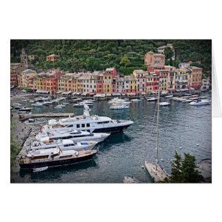 Italienisches Hafen-Dorf - Portofino, Italien Karte