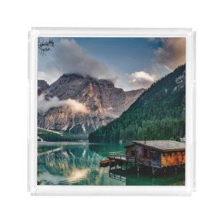 Italienisches Mountainssee-LandschaftsFoto Acryl Tablett