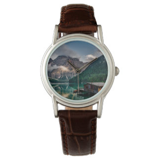 Italienisches Mountainssee-LandschaftsFoto Armbanduhr