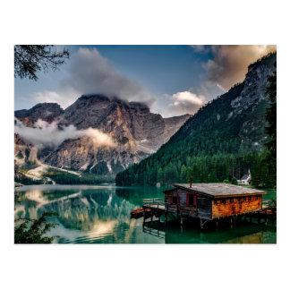 Italienisches Mountainssee-LandschaftsFoto Postkarte