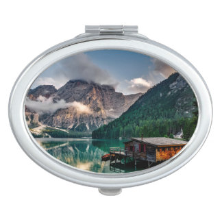 Italienisches Mountainssee-LandschaftsFoto Schminkspiegel