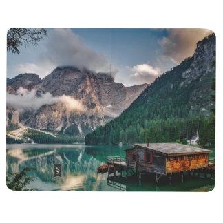 Italienisches Mountainssee-LandschaftsFoto Taschennotizbuch