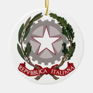 Italienisches nationales Emblem Rundes Keramik Ornament