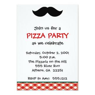 Italienisches Pizza-Party 12,7 X 17,8 Cm Einladungskarte