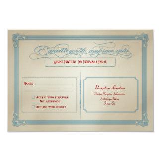 Italienisches rotes weißes u. blaues DIY Hochzeit 8,9 X 12,7 Cm Einladungskarte