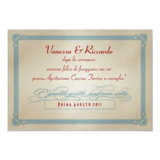 Italienisches rotes weißes u. blaues DIY Hochzeit Ankündigungskarte