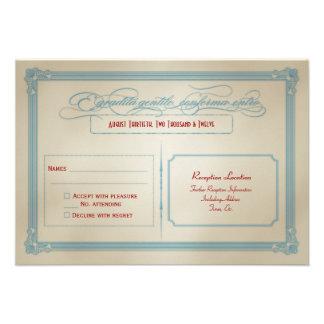 Italienisches rotes weißes u blaues DIY Hochzeit Individuelle Ankündigung