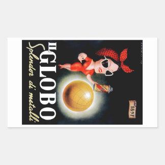 Italienisches Werbungs-Plakat 1949 IL Globo Rechteckiger Aufkleber