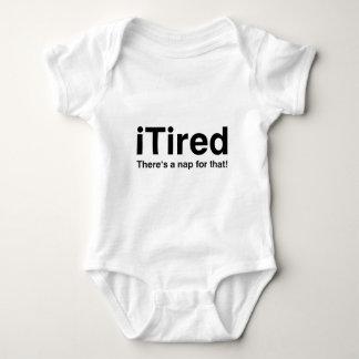 iTired - es gibt ein Nickerchen für das Baby Strampler