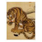 Ito Jakuchu Tiger-Postkarte Postkarte