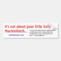 I'ts nicht über armen kleinen Sally Muckinfutch
