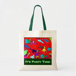 """""""It's Party Time!"""" -  Baumwollttasche Taschen"""