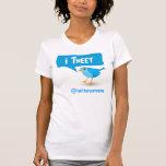 iTweet Twitter-blauer Vogel-Damen-T - Shirt