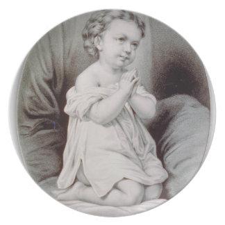 Ives erstes Gebets-Weihnachten wow 1897 Teller