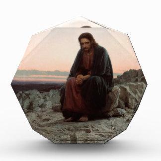 Iwan Kramskoy- Christus in der Wildnis - schöne Acryl Auszeichnung