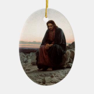 Iwan Kramskoy- Christus in der Wildnis - schöne Keramik Ornament