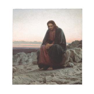 Iwan Kramskoy- Christus in der Wildnis-schönen Notizblock